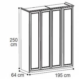 Шкаф 4-дверный высокий Nostalgia Camelgroup