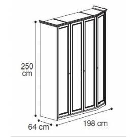 Шкаф 4-дверный высокий модульный Nostalgia Camelgroup
