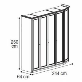 Шкаф 5-дверный высокий модульный Nostalgia Camelgroup