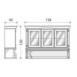 Надстройка для 3-х дверного прилавка Palazzo Ducale Laccato Prama