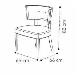 Кресло Camelgroup Maia KLEO, ткань MIRAGLIO COL. 617 BLU