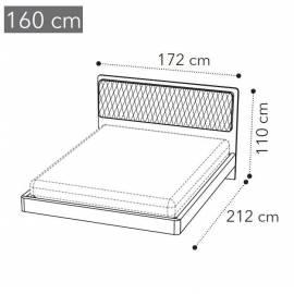 Кровать Camelgroup Maia 160x200, ткань MIRAGLIO COL. 205 FUMO