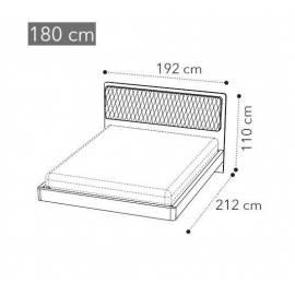 Кровать Camelgroup Maia 180x200, ткань MIRAGLIO COL. 205 FUMO