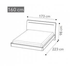 Кровать Camelgroup Maia LEGNO LUX 160x200