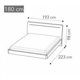 Кровать Camelgroup Maia LEGNO LUX 180x200