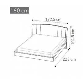 Кровать Camelgroup Maia TRENDY 160x200, экокожа NABUK COL.12