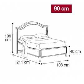Кровать Nostalgia Gendarme Camelgroup 90х200 без ковки без изножья