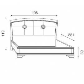 Кровать с кожаным изголовьем без изножья Palazzo Ducale Ciliegio Prama 180 см