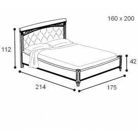 Кровать Treviso Camelgroup 160 см без изножья с мягкой спинкой Nabuk 12