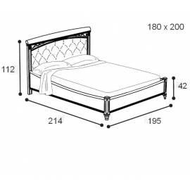 Кровать Treviso frassino Capitone Camelgroup 160 см без изножья с мягкой спинкой Nabuk 11