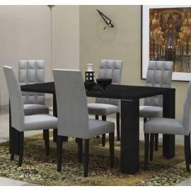 Стол обеденный 160х90 Status Armonia Black со стеклом прямоугольный
