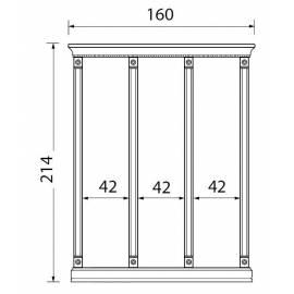 Комплект карнизов для стеновых панелей 40+40+40 см Palazzo Ducale Ciliegio Prama