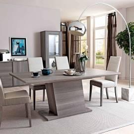 Стол обеденный 180/225 смStatus Futura Grey + 1 вставка
