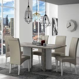 Стол обеденный 180/225 см Status Treviso Grey, +1 вставка