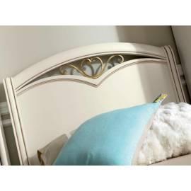 Кровать Nostalgia Camelgroup Bianco Antico 90х200 с ковкой с изножьем