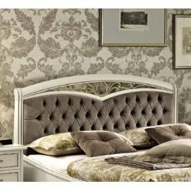 Кровать Nostalgia Camelgroup Bianco Antico 160 с ковкой, обивкой и изножьем
