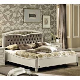 Кровать Camelgroup Nostalgia Bianco Antico 160 с ковкой и обивкой, без изножья