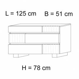Комод низкий 3 ящика Status Caprice White