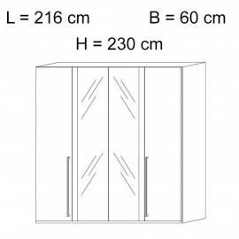 Шкаф 4-дверный с зеркалами Status Caprice White