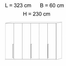 Шкаф 6-дверный Status Caprice White