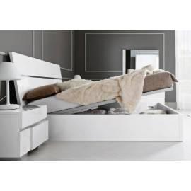Кровать с подъемным механизмом 180х200 Status Caprice White