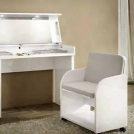 Кресло для туалетного стола Status Caprice White экокожа Сroco