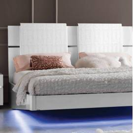Мягкое изголовье из двух подушек Кровать 180/200 Status Caprice White