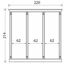 Комплект карнизов для стеновых панелей 60+60+60 см Palazzo Ducale Laccato Prama