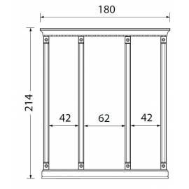 Комплект карнизов для стеновых панелей 40+60+40 см Palazzo Ducale Laccato Prama