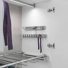 Вешалка для галстуков и ремней Status Caprice White