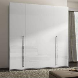 Шкаф 3-дверный с зеркалом Status Caprice White