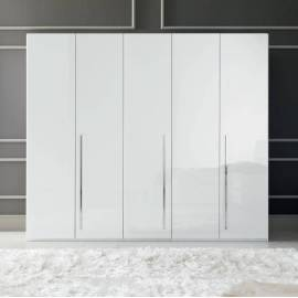 Шкаф 6-дверный с зеркалами Status Caprice White