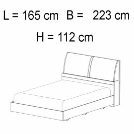 Кровать 154 x 203 Status Elite Grey