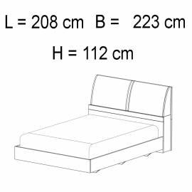 Кровать 198 x 203 Status Elite Grey