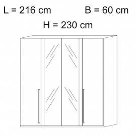 Шкаф 4-дверный с зеркалами Status Elite Grey