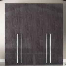 Шкаф 5-дверный с зеркалами Status Elite Grey