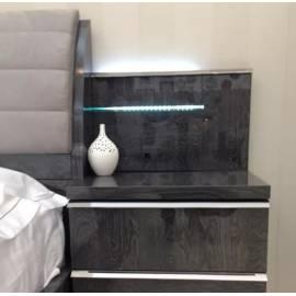 Панель к прикроватной тумбе с подсветкой Status Elite Grey