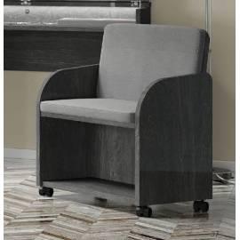 Кресло к туалетному столику Status Elite Grey обивка Croco