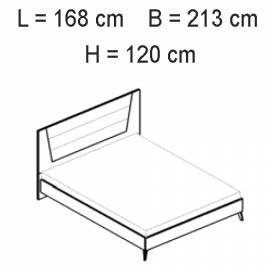 Кровать 154x203 Status Aura White