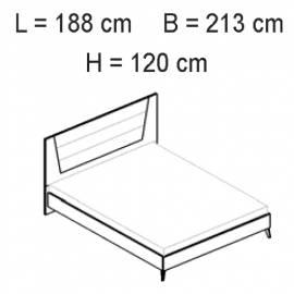 Кровать 180x203 Status Aura White