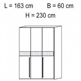 Шкаф 3 дверный отделка кож зам croco Status Volare White