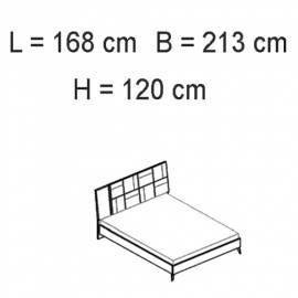 Кровать 154x203 люкс Status Sirio White