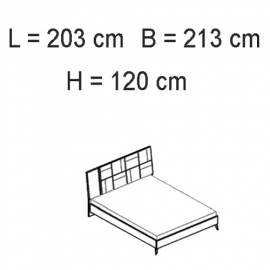 Кровать 198x203 люкс Status Sirio White