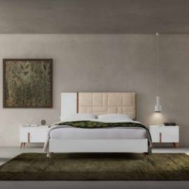 Кровать 160x203 люкс Status Sirio White