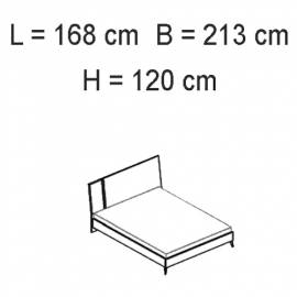 Кровать 154x203 Status Sirio White