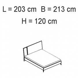 Кровать 198x203 Status Sirio White