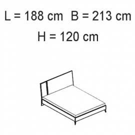 Кровать 180x203 Status Sirio White
