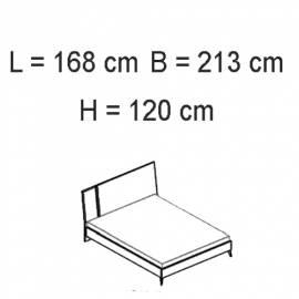 Кровать 160x203 Status Sirio White