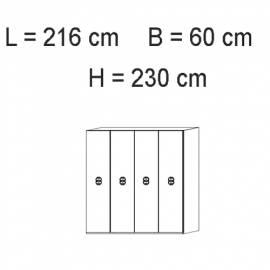 Шкаф 4 дверный Status Dafne