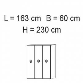 Шкаф 3 дверный Status Dafne